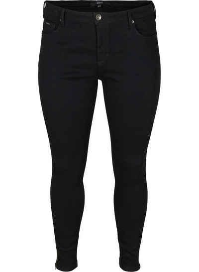 Zizzi Slim-fit-Jeans Große Größen Damen Cropped Super Slim Fit Jeans