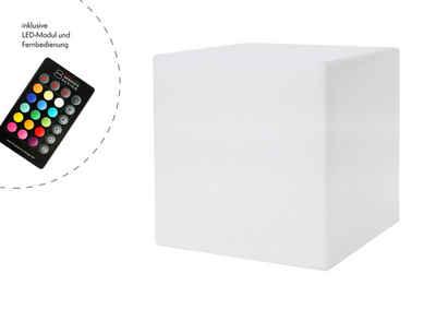 8 seasons design Gartenleuchte »Shining Cube«, 33 cm weiß für In- und Outdoor