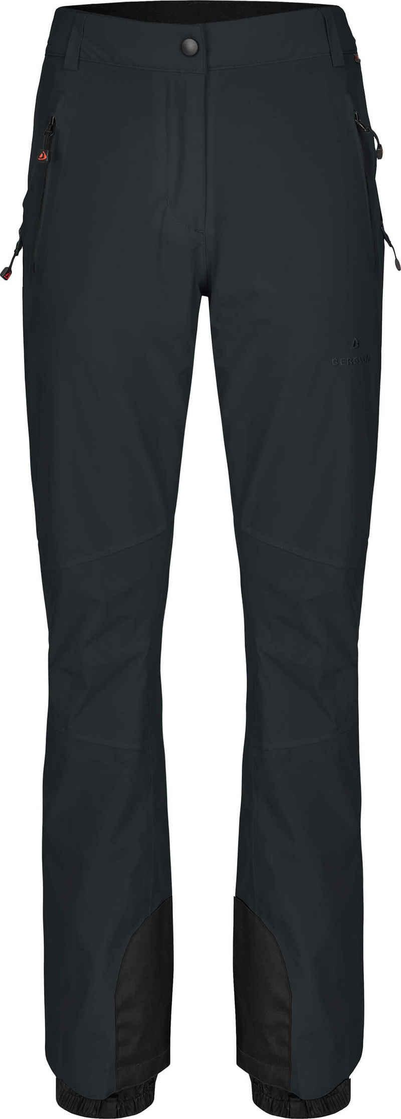 Bergson Skihose »ICE Slim« Damen Skihose, wattiert, 20000 mm Wasserssäule, Normalgrößen, dunkel grau