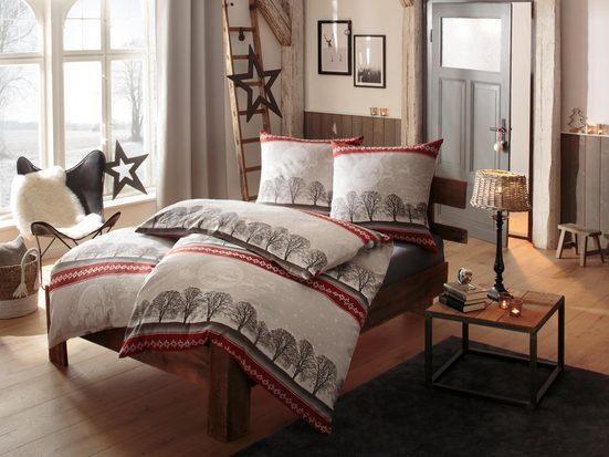 Bettwäsche »Himal«, my home, mit Rentieren und Winterlandschaft
