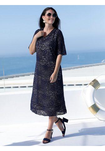 MIAMODA Nėriniuota suknelė su kontrastingas Fu...