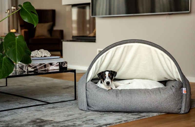 Sleepy Fox® Tierhöhle »Sleepy Fox® Premium Kuschelhöhlenbett für Katzen und Hunde«, S: 65lx55wx40h cm - Hunde & Katzen bis 10kg, M: 85lx75wx55h cm - Hunde bis 20kg, L: 110lx75wx65h cm - Hunde bis 40kg
