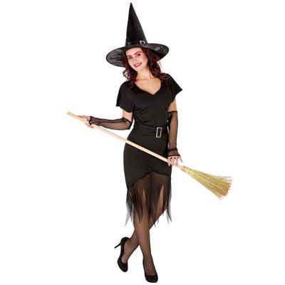 tectake Hexen-Kostüm »Frauenkostüm sexy Zauberin«