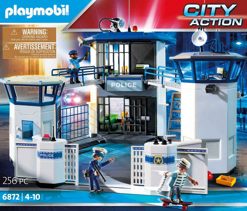 Playmobil® Konstruktions-Spielset »Polizei-Kommandozentrale mit Gefängnis (6872), City Action«, (256 St), Made in Germany