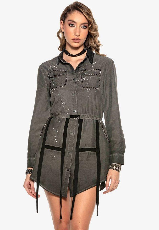 cipo & baxx -  Jeanskleid mit extravaganten Applikationen