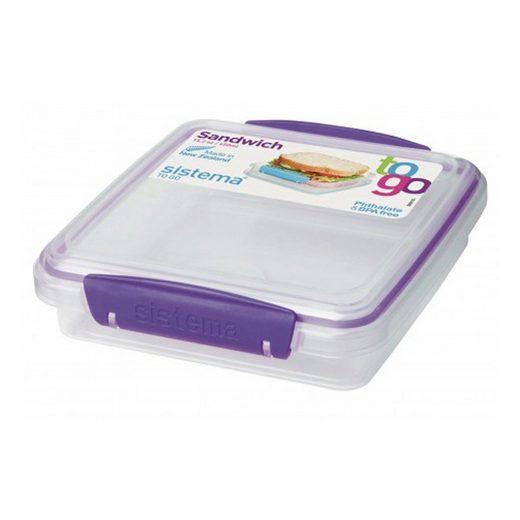 sistema Aufbewahrungsbox »kleine Brotdose, transparent-lila«, Kunststoff Lebensmittelsicher