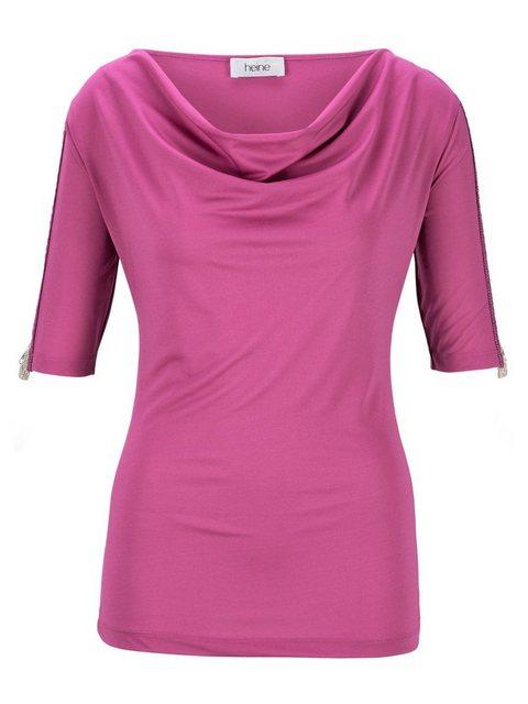 Shirt mit Wasserfallausschnitt | Bekleidung > Shirts > Sonstige Shirts | ASHLEY BROOKE by Heine