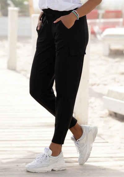 Venice Beach Jogginghose mit seitlichen Taschen am Bein