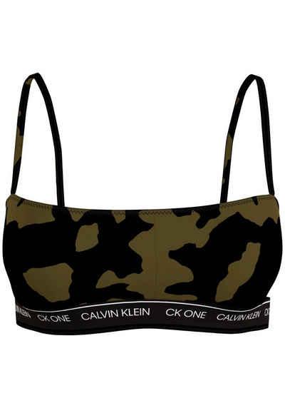 Calvin Klein Bustier-Bikini-Top, in trendigen Farben