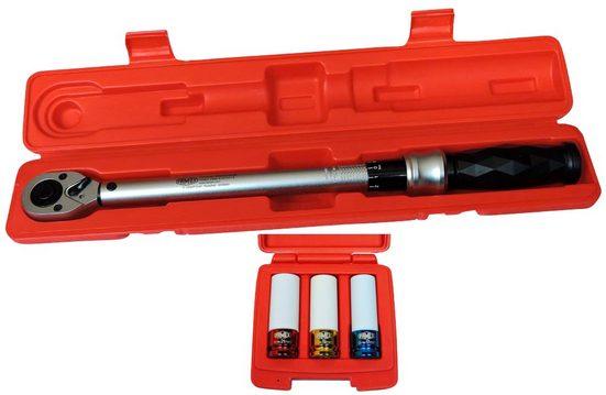 FAMEX Drehmomentschlüssel »10865-3N - PROFESSIONAL«, 40-210 Nm, Set mit Spezialeinsätzen für Radschrauben