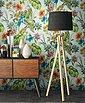 Newroom Papiertapete, Blumentapete Grün Bunt Wallpaper Floral Blumen Tapete Pflanzen Palmenblätter Wohnzimmer Schlafzimmer Büro Flur, Bild 2