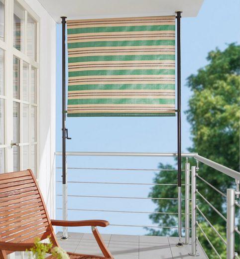 ANGERER FREIZEITMÖBEL Balkonsichtschutz »Nr. 1900«, grün/beige/braun, BxH: 150x275 cm