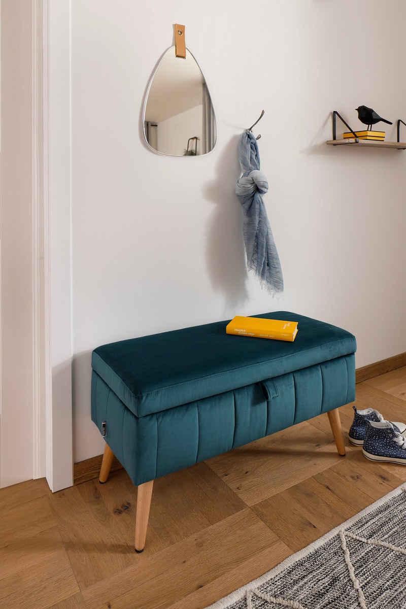 my home Truhenbank »Amira«, mit Staufach, in 3 Bezugsqualitäten mit feiner Steppung