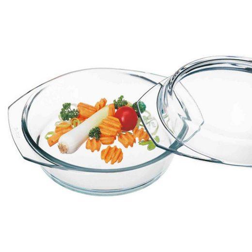 SIMAX Auflaufform »Glas Auflaufform mit Deckel 18 cm«, Glas, (1-St)
