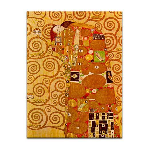 Bilderdepot24 Wandbild, Gustav Klimt - Die Erfüllung