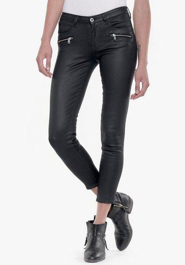 Le Temps Des Cerises Ankle-Jeans »POWERC« mit edel glänzender coating Beschichtung