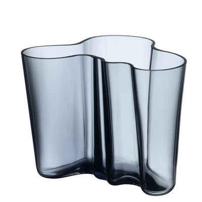IITTALA Glas »iittala Alvar Aalto - Vase 16 cm, regenblau«, Kristallglas, mundgeblasen
