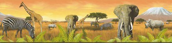 A.S. Création Bordüre »Only Borders«, strukturiert, natürlich, mit Tieren