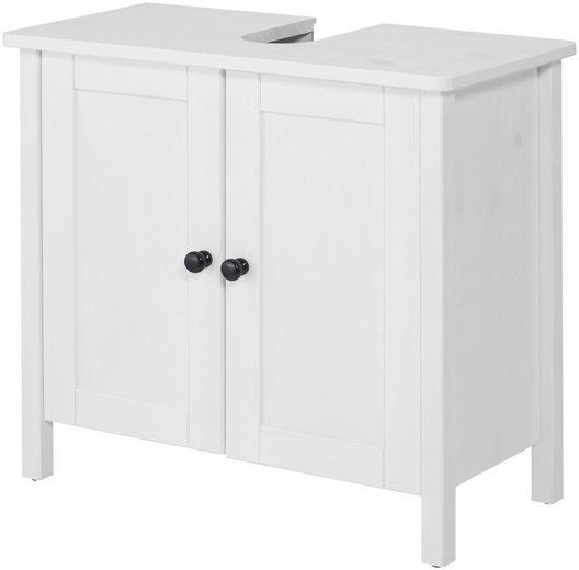 WELLTIME Waschbeckenunterschrank »Sylt«, Landhaus, Breite 65 cm