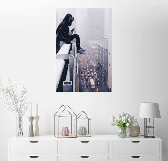 Posterlounge Wandbild, Premium-Poster Müde in Chicago