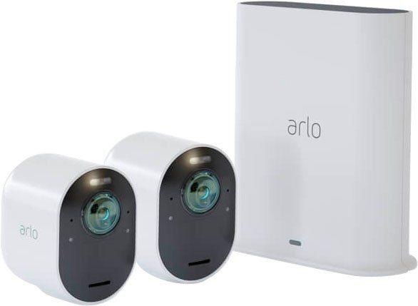 ARLO »Ultra 2 Spotlight Kabelloses 4K-UHD-Überwachungssystem mit 2 Kamera« Überwachungskamera (Außenbereich, 2-tlg)