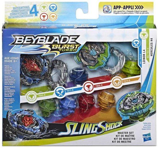 Hasbro Sammelfigur »Beyblade Singleshock Master Set Luinor L4 Hercules H4« (10 Stück)