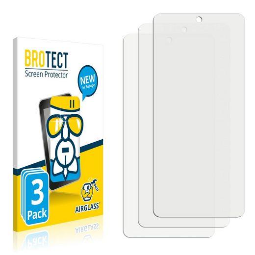 BROTECT Schutzfolie »Panzerglasfolie für Samsung Galaxy A52 5G«, (3 Stück), Schutzglas Glasfolie klar