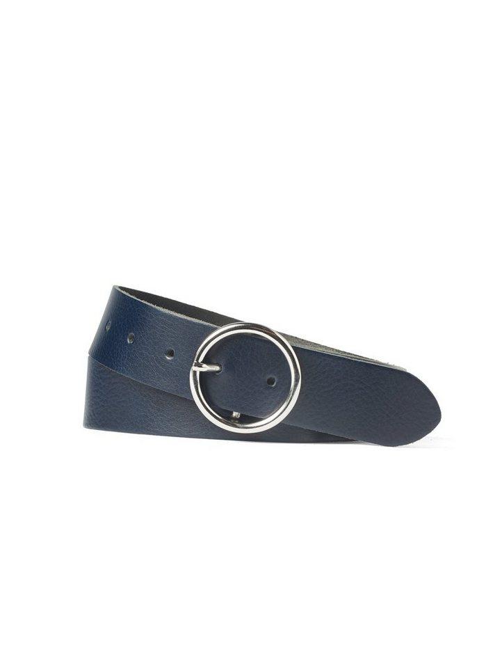 tom tailor denim -  Ledergürtel »Ledergürtel mit runder Schnalle«