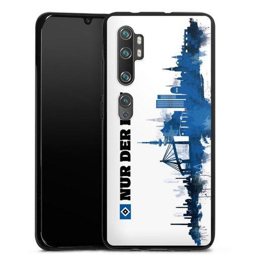 DeinDesign Handyhülle »Silhouette - Nur der HSV« Xiaomi Mi Note 10 Pro, Hülle Offizielles Lizenzprodukt HSV Hamburger SV
