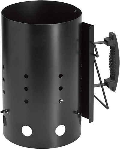 dynamic24 Anzündkamin, XL 31cm Schnellanzünder Grillkohle Grill Kohle Anzünder Grillstarter