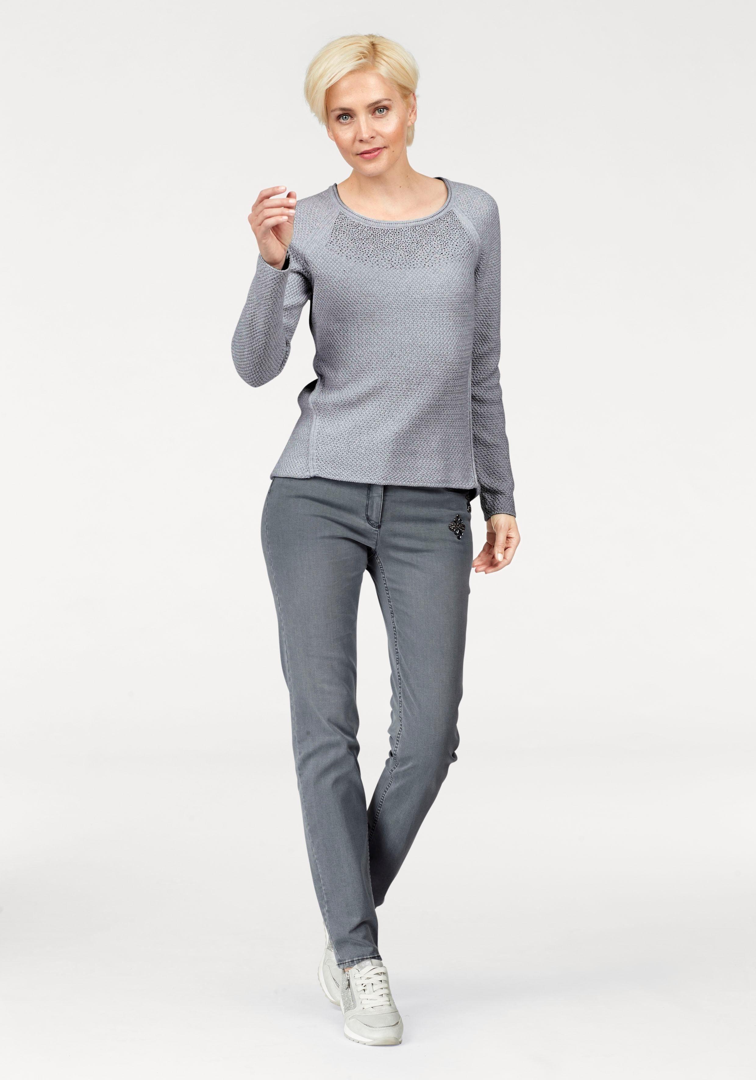 Bianca Slim-fit-jeans »denver« Mit Schmucksteinen Am Tascheneingriff Online Kaufen
