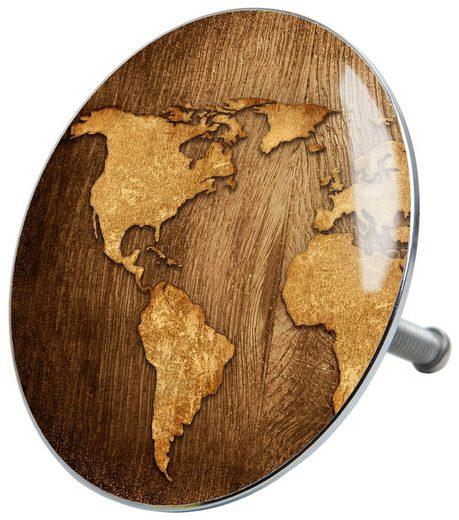 SANILO Stöpsel »World Map«, für Badewannen und Duschen, Ø 7,2 cm