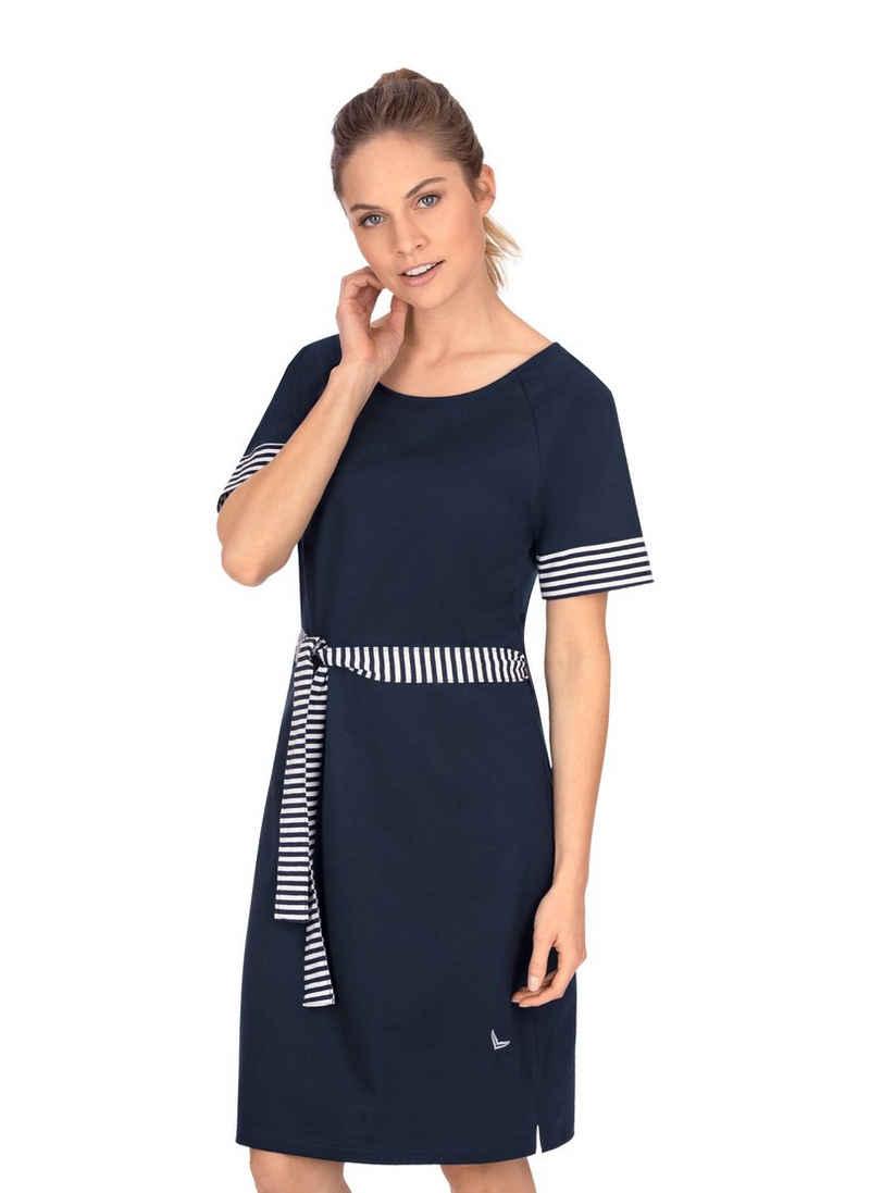 Trigema Jerseykleid mit modischem Bindeband