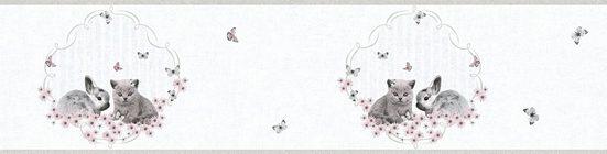 living walls Bordüre »Little Stars«, glatt, Borte mit niedlichen Hasen und Katzen Kinderzimmer, Vlies, PVC-frei