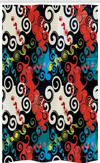 Abakuhaus Duschvorhang »Badezimmer Deko Set aus Stoff mit Haken« Breite 120 cm, Höhe 180 cm, Psychedelisch Grunge Street Art
