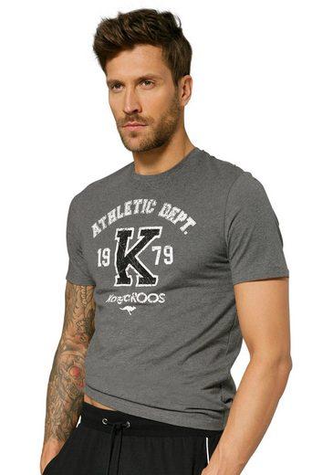 KangaROOS T-Shirt »Homewear« mit großem Druck vorn