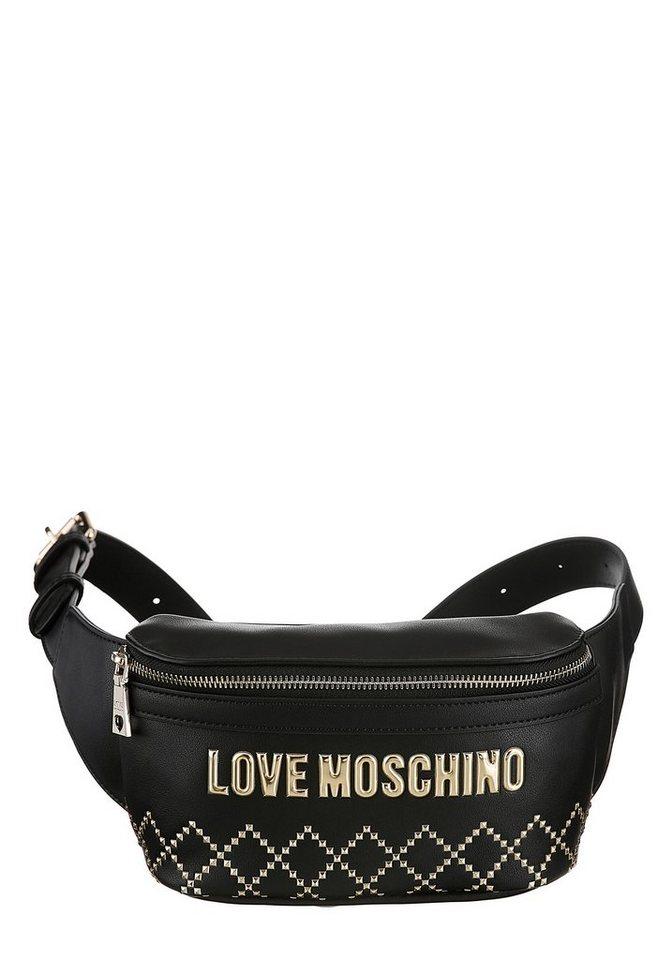 love moschino -  Bauchtasche, mit goldfarbenen Details