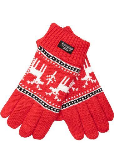 EEM Strickhandschuhe Damen Strickhandschuhe XMAS aus Baumwolle mit Thinsulatefutter