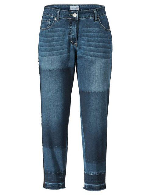 Hosen - Angel of Style by HAPPYsize 5 Pocket Jeans mit modischem Tape seitlich ›  - Onlineshop OTTO