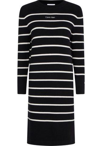 Calvin Klein Megzta suknelė »STRIPE KNIT LOGO sukne...
