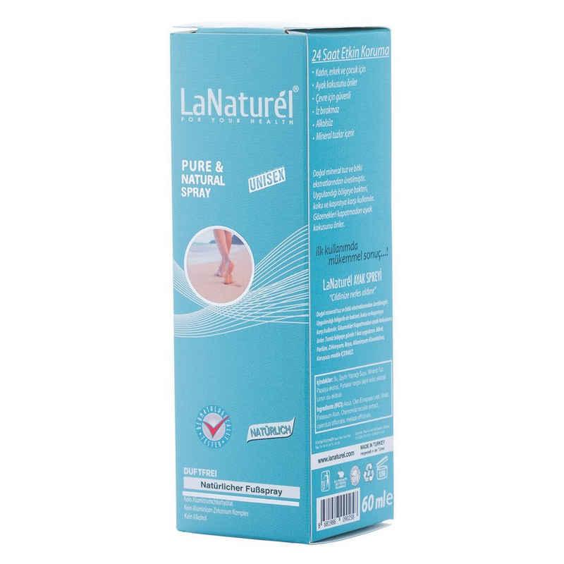 LaNaturel Fußschutz »Natürlicher Fußspray Duftfrei Unisex 60ml Fußdeo Deodorant Schutz vor Bakterien und Schweiß« (1-tlg)