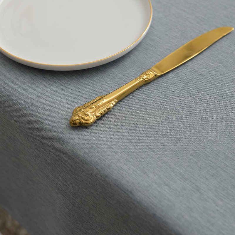 Yebeda Tischdecke, QH, Wasserdicht Fleckschutz Baumwolle Leinen Tischdecke, Einfache Moderne Tischdekoration