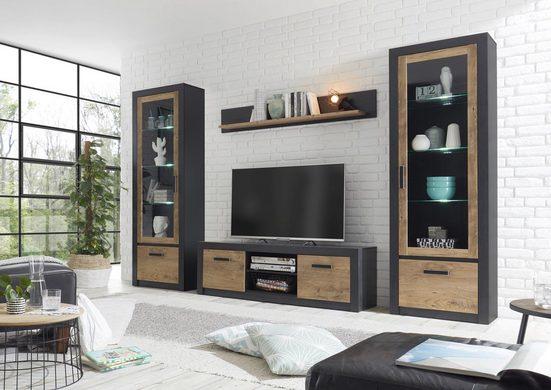 my home Wohnwand »Brügge«, (Set, 4-St), Mit einer dekorativen Rahmenoptik