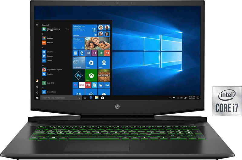 HP 15-dk1270ng Notebook (39,6 cm/15,6 Zoll, Intel Core i7 10750H, GeForce GTX 1650 Ti, 512 GB SSD, Kostenloses Upgrade auf Windows 11, sobald verfügbar)