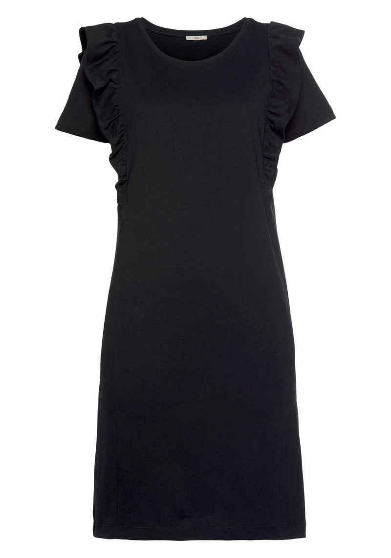 edc by Esprit Jerseykleid mit tollen Volants im Schulterbereich