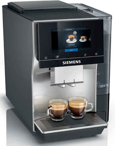 SIEMENS Kaffeevollautomat EQ.700 TP705D47, intuitives Full-Touch-Display, speichern Sie bis zu 10 individuelle Kaffee-Favoriten, automatische Milchsystem-Reinigung
