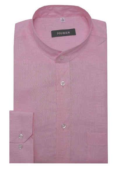 Huber Hemden Leinenhemd »HU-0460« Stehkragen, 100% Leinen, feine nachhaltige Naturfaser, Langarm, Regular Fit - bequeme Form, Made in EU!