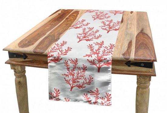 Abakuhaus Tischläufer »Esszimmer Küche Rechteckiger Dekorativer Tischläufer«, Unter Dem Meer Coral Algen Pflanzen