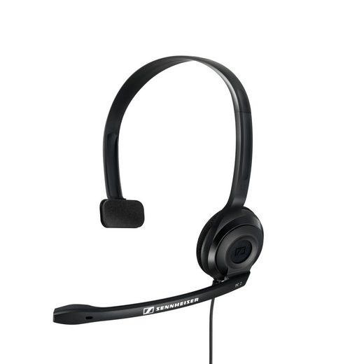 Sennheiser »PC 2 Chat Headset« Kopfhörer (Ein-Ohr-Kopfhörer, Mikrofon am Kopfband, Noise Cancelling-Mikrofon, Schwarz)