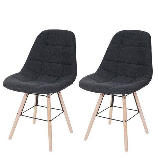 MCW Esszimmerstuhl »MCW-A60 II-2« 2er-Set, Kunststoffuntersatz unter den Füßen, Retro Design, Bequeme Sitzpolsterung